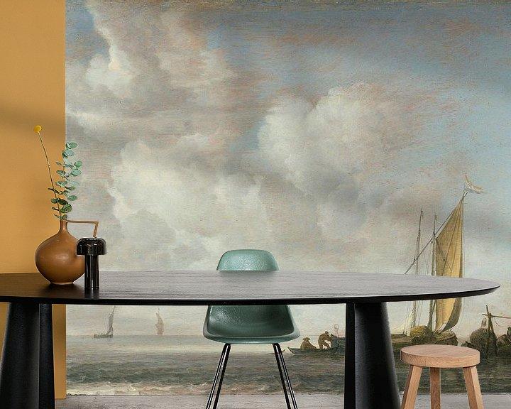 Sfeerimpressie behang: Rustige zee, Simon de Vlieger