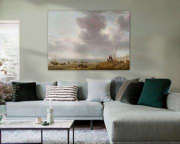 Blick auf den Strand, Simon de Vlieger