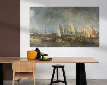 Die Schlacht auf der Slaak zwischen der niederländischen und der spanischen Flotte, Simon de Vlieger