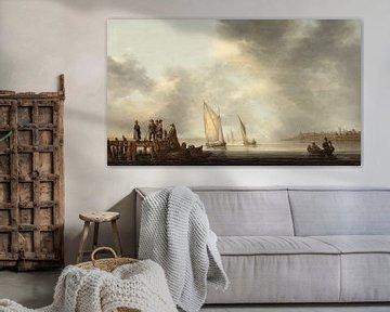Ein Pier mit Blick auf Dordrecht, Aelbert Cuyp