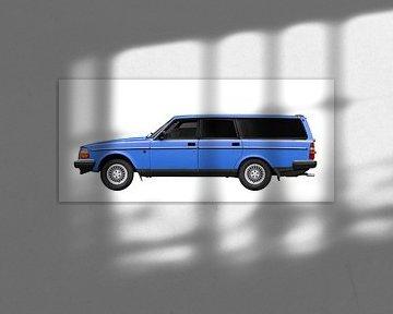 Volvo 245 Kombi in blue von aRi F. Huber