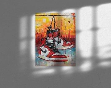 Nike Air Jordan Gemälde von Jos Hoppenbrouwers