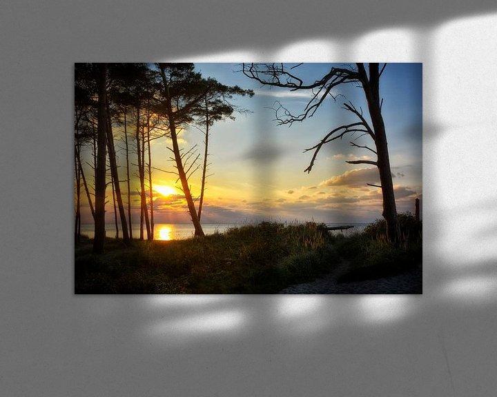 Beispiel: Sonnenutnergang am Weststrand von Claudia Moeckel