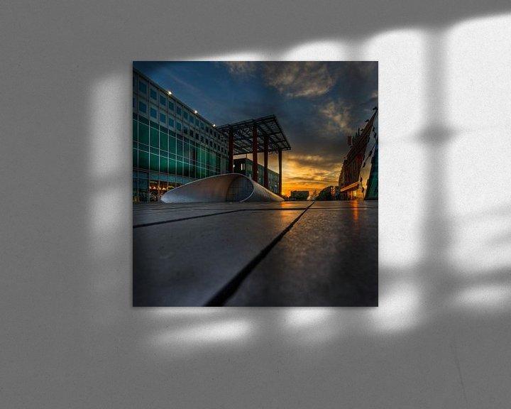 Beispiel: Piazza Eindhoven, 18 september plein bij zonsopkomst von Bas Wolfs