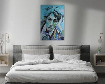 Portret van Marc Chagall van Helia Tayebi Art