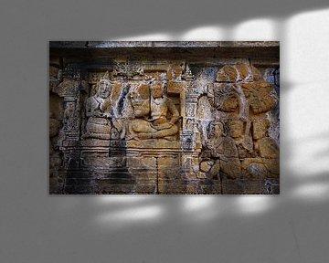 Borobudur detail van Henk Langerak