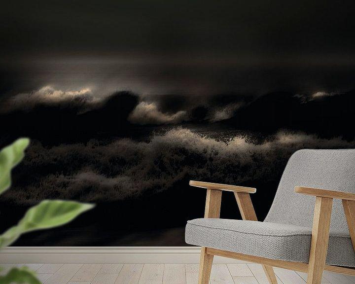 Sfeerimpressie behang: Wild Water van Adrien Hendrickx