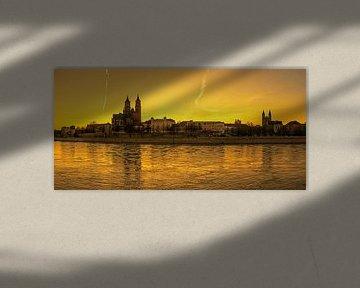 Coucher de soleil à Magdebourg