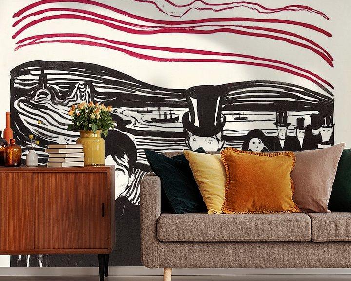 Beispiel fototapete: Edvard Munch, Angst von Atelier Liesjes