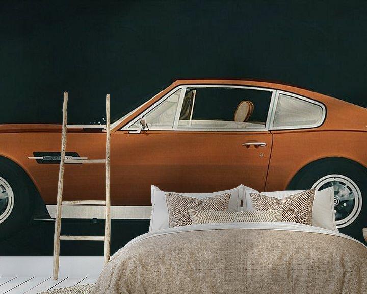 Sfeerimpressie behang: Aston Martin Vantage 1977 van Jan Keteleer