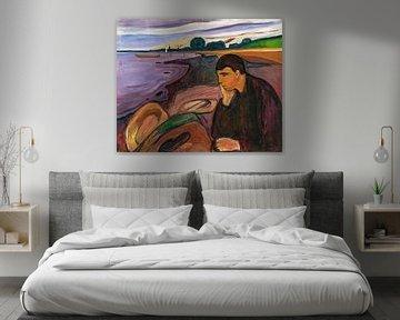 Edvard Munch, Melancholie, 1896 von Atelier Liesjes