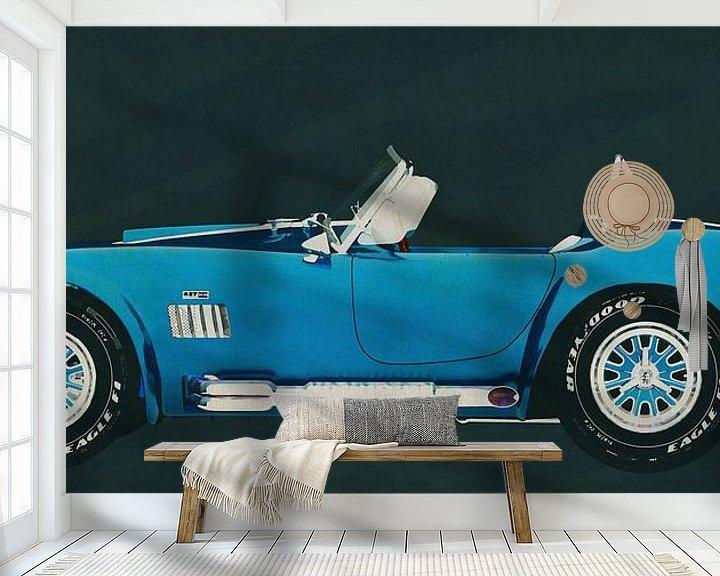 Sfeerimpressie behang: Ford AC Cobra 427 Shelby 1965 van Jan Keteleer