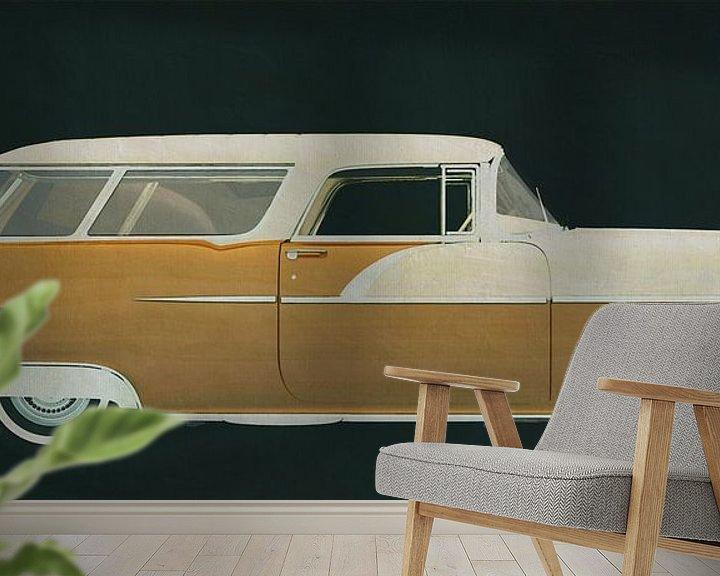 Sfeerimpressie behang: Pontiac Station Wagon 1956 van Jan Keteleer
