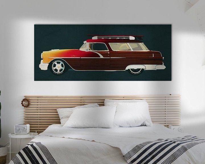 Sfeerimpressie: Pontiac Station Wagon 1956 Surfer Editie van Jan Keteleer