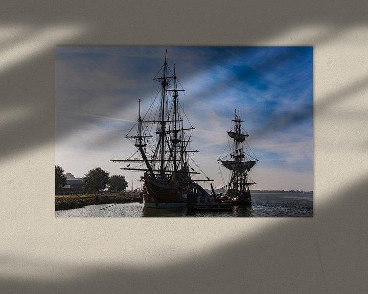 Sfeerimpressie: Batavia VOC schip Lelystad van Brian Morgan
