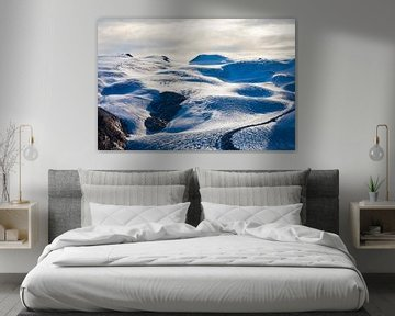 Gorner gletsjer in het Monte Rosa-massief in Zwitserland van Werner Dieterich