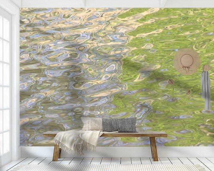 Sfeerimpressie behang: Waterreflecties 1 van Gert van Lagen
