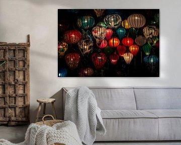Hoi An kleurrijke lampionnen van Ellis Peeters