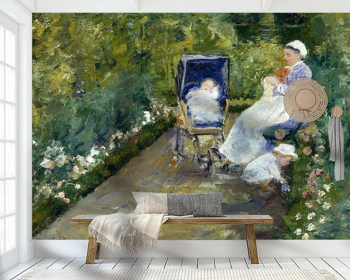 Beispiel fototapete: Mary Cassatt, Kinder in einem Garten (Die Schwester) - 1878 von Atelier Liesjes