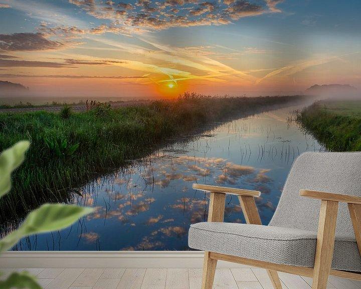 Sfeerimpressie behang: Reflectie van vandaag van Anneke Hooijer