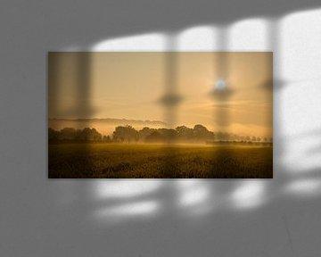 Landschaft mit Sonnenaufgang