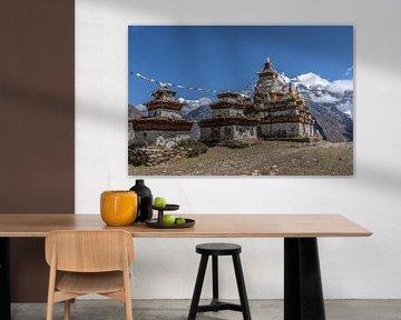 Stupas dans l'Himalaya Népal sur Tessa Louwerens