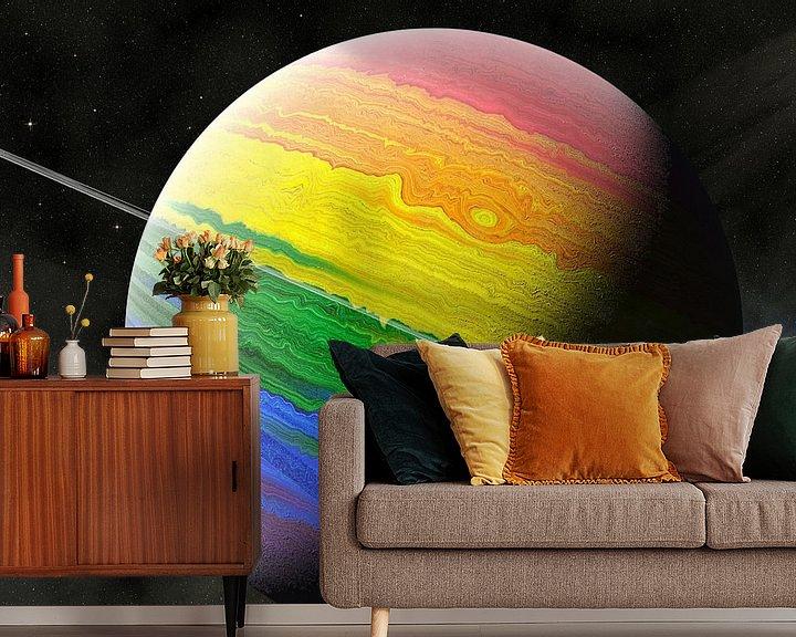 Sfeerimpressie behang: Planet LGBT van Frans Blok