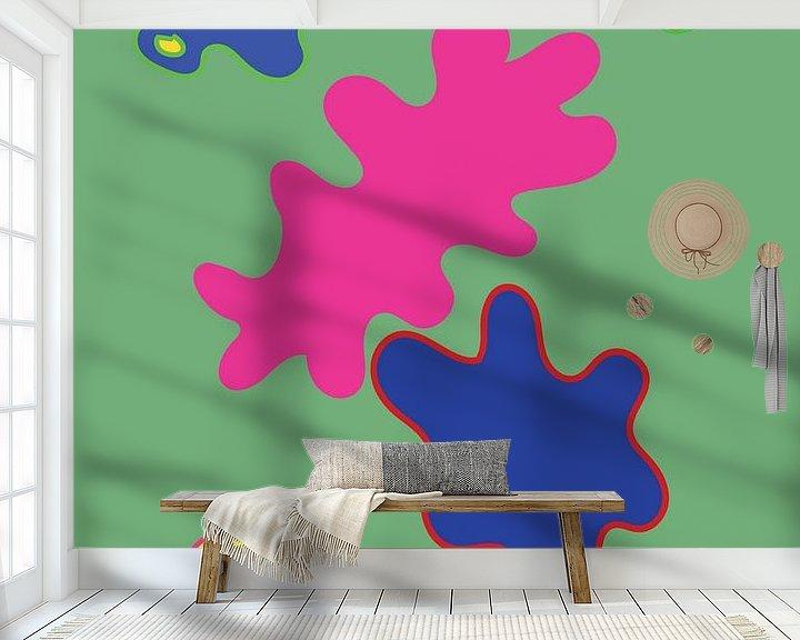 Beispiel fototapete: Eine fröhliche und farbenfrohe grafische Illustration von Francisca Snel