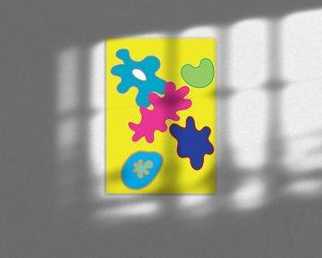 Farbenfrohe und fröhliche grafische Illustration von Francisca Snel