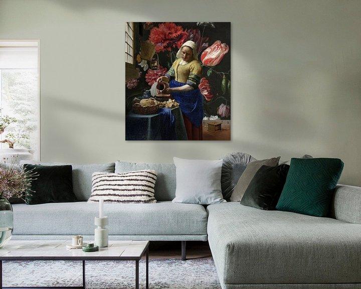 Sfeerimpressie: Het Melkmeisje met de vaas, Vermeer en de Heem