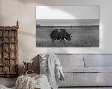 Nashorn in der Savanne in Afrika von Discover Dutch Nature