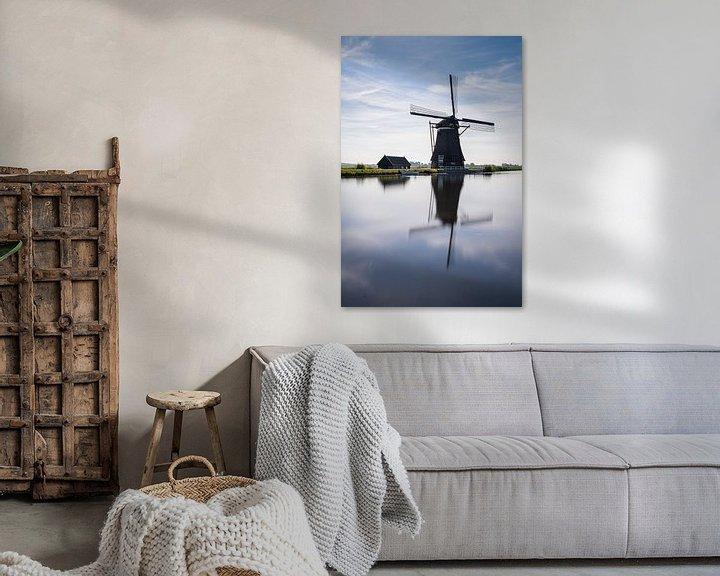 Sfeerimpressie: De achtkante molen bij Groot-Ammers van Albert Lamme