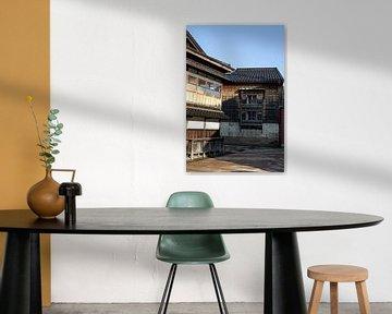 Hölzerne Gebäude in Kanazawa von Mickéle Godderis