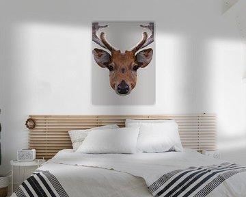 Digitale Illustration von Hirschen von Anne Dellaert