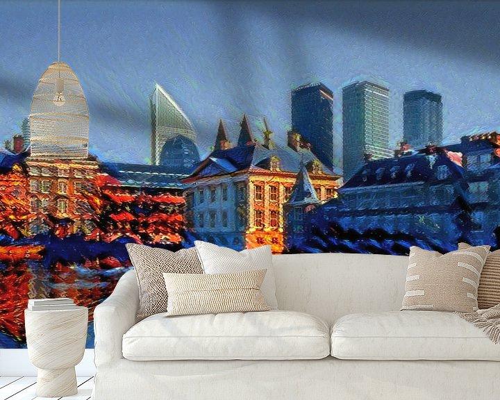 Beispiel fototapete: Warme Aussicht Mauritshuis Den Haag von Slimme Kunst.nl