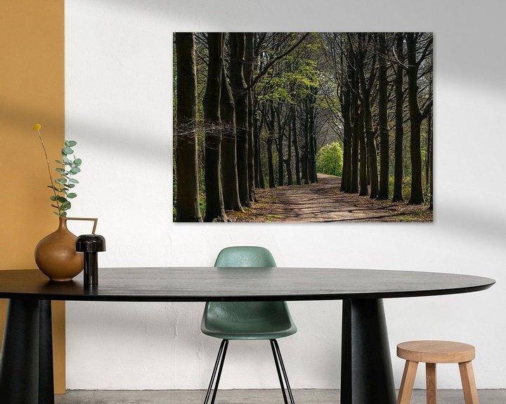 Sfeerimpressie: Bomenlaan in de lente van Bep van Pelt- Verkuil