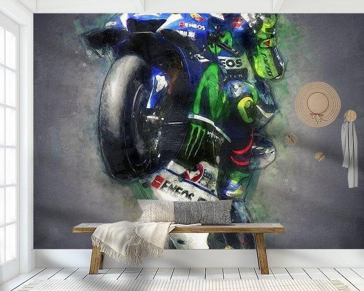 Beispiel fototapete: Valentino Rossi Ölgemälde Porträt 1 von 3 von Bert Hooijer