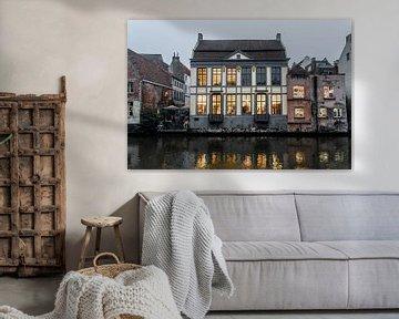 Gebouwen aan de Leie in Gent van Mickéle Godderis