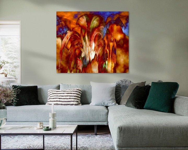 Beispiel: Lilien-Aquarell von Vera Laake