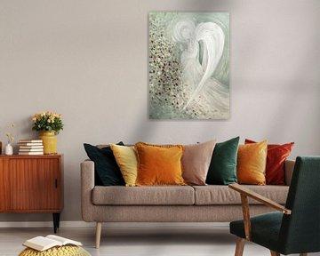 Engelenbeeld - witte engel van Christine Nöhmeier