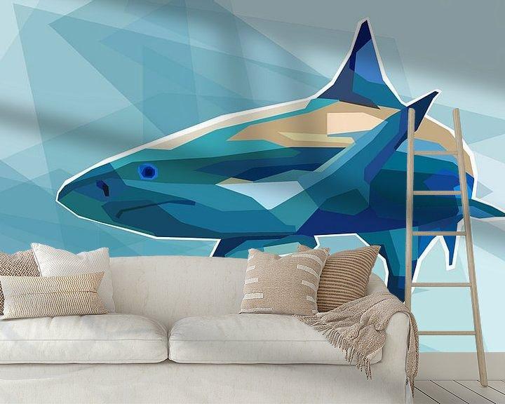 Beispiel fototapete: Hai Pop Art Gemälde Killerhai von Kunst Company