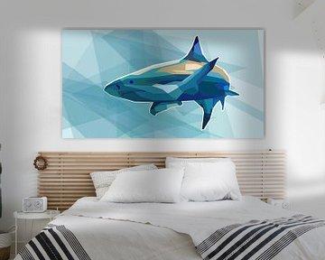 Hai Pop Art Gemälde Killerhai von Kunst Company