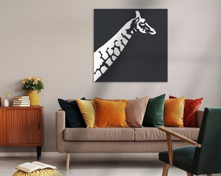 Beispiel: Giraffe mit Dunkelgrün von Anne Dellaert