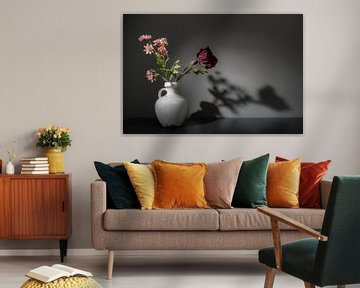 Stilleven met bloemen van Theo Bense