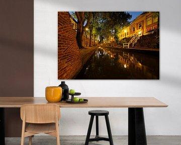 Nieuwegracht in Utrecht tussen de Quintijnsbrug en de Brigittenbrug van Donker Utrecht