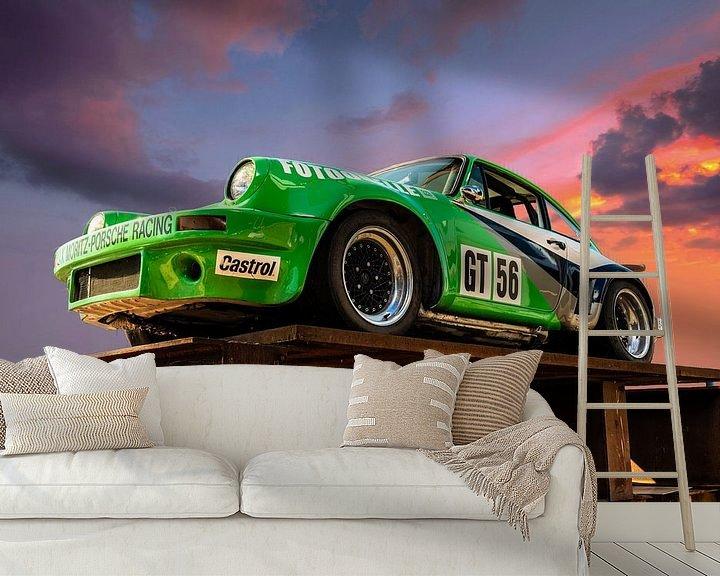 Sfeerimpressie behang: Porsche van Brian Morgan