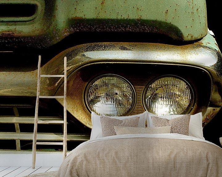Beispiel fototapete: Detail of rusty old green car. von Alice Berkien-van Mil