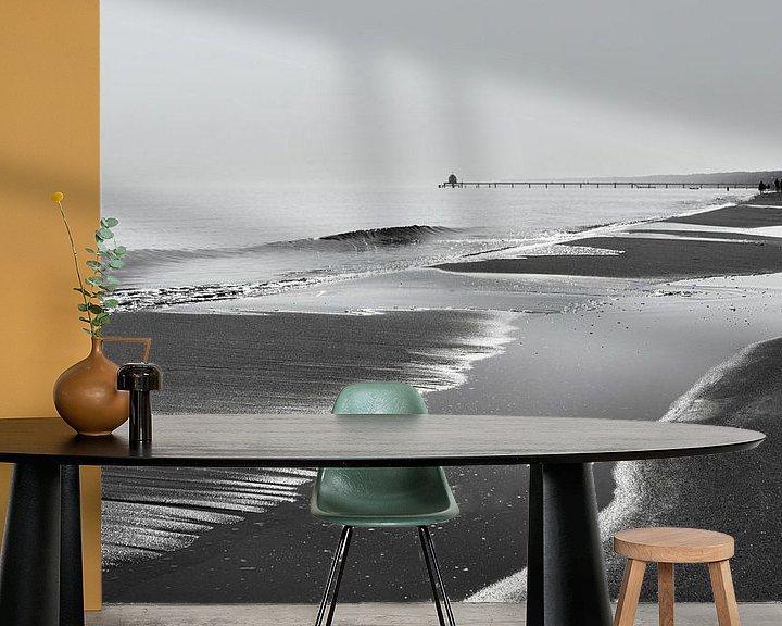 Beispiel fototapete: Strandblick in schwarzweiß von Ralf Lehmann