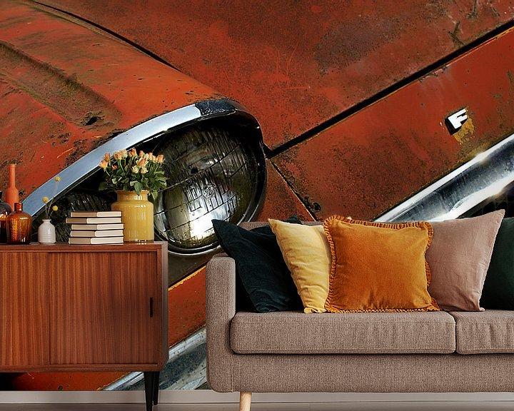 Beispiel fototapete: Detail of rusty old red Ford. von Alice Berkien-van Mil