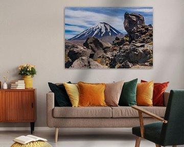 Le volcan du Mont Doom en Nouvelle-Zélande